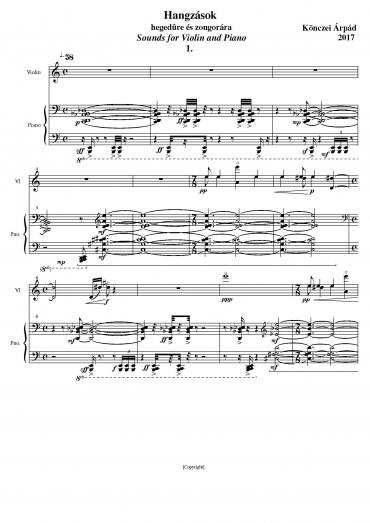 Hangzások, hegedűre és zongorára