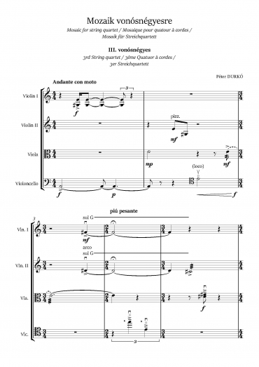 3rd String Quartet