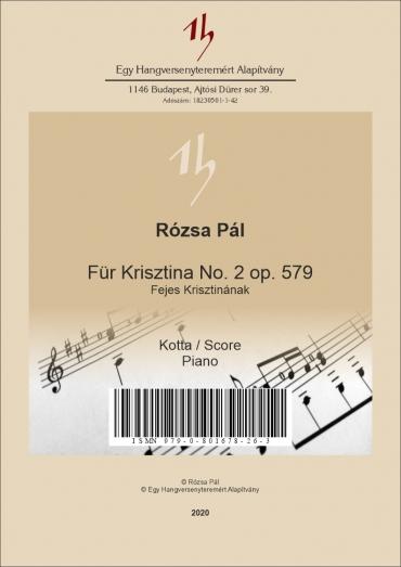 Für Krisztina No. 2 op. 579