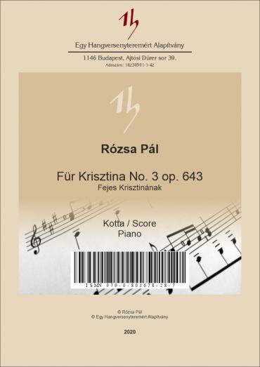 Für Krisztina No. 3 op. 643