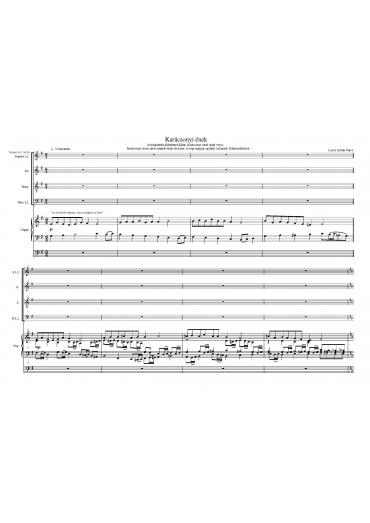 Karácsonyi ének - vegyeskarra és orgonára + ad lib. trombita (kóruskantáta)