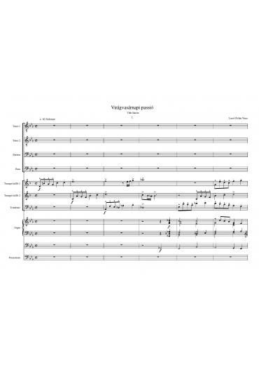 Virágvasárnapi passió (Score & Parts)