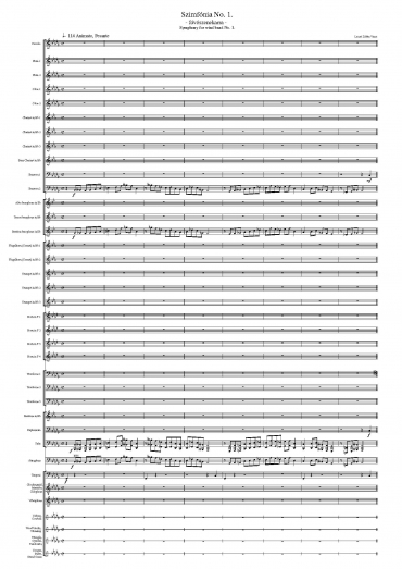 Symphony for wind band No. 1 (Score & Parts)
