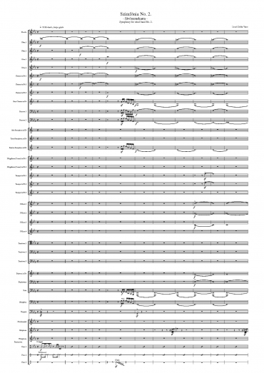 Symphony for wind band No. 2 (Score)