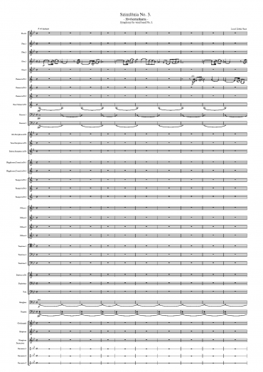 Symphony for wind band No. 3 (Score)