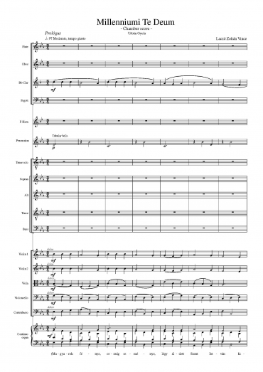 Millenniumi Te Deum - Chamber version (Score & Parts)