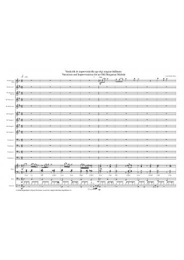 Variations and Improvisations Old Hunbgarian Melody I-IV.