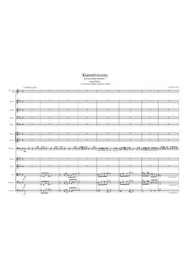 Klarinétverseny – partitúra