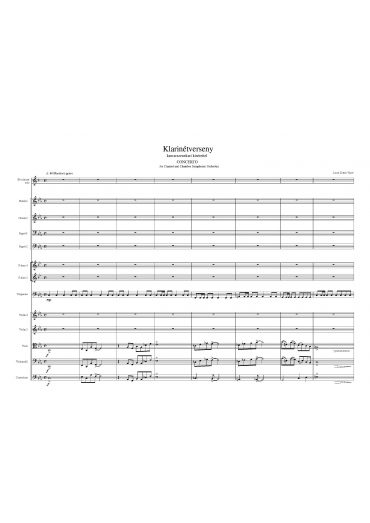 Klarinétverseny – partitúra és szólamok