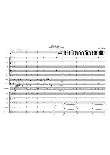 Gitárverseny – partitúra és szólamok
