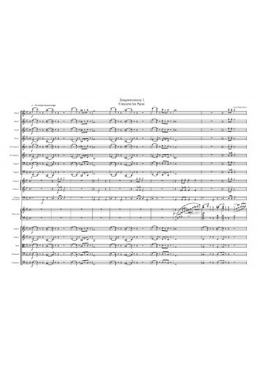 Zongoraverseny – partitúra és szólamok